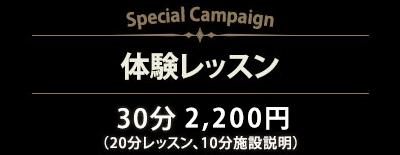 体験レッスン 30分 2,200円